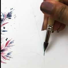 Watercolor Paintings For Beginners, Watercolor Art, Painting Videos, Painting Abstract, Painting Art, Watercolor Beginner, Fabric Painting, Figure Painting, Easy Canvas Art