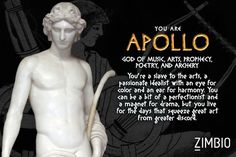 Which Greek God are you? Written by Hayley Igarashi -- According to my quiz results I am Apollo … the description does sound like me! Ancient Greek Religion, Ancient Greek Art, Ancient Greece, Greek Mythology Gods, Greek Gods And Goddesses, Percy Jackson, Best Supernatural Quotes, Apollo Greek, Book Fandoms