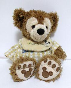 Pre-DuffY Hidden Mickey Teddy Bear My First Disney Bear PJs Bib Disney Resorts #Disney