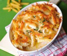 Ha csak fél óránk van: 9 villámgyors tésztaétel a hétköznapokra Hungarian Recipes, Penne, Apple Pie, Macaroni And Cheese, Cauliflower, Bacon, Food And Drink, Meat, Vegetables