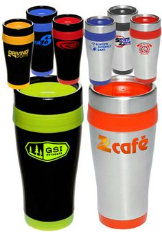 Get personalized #stainlesssteel travel #mugs are exceptional #promotionalproducts available @ Graffix Promotionals Inc. Call us on 250-884-6652 for more details.