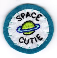 Space Cutie Embroidered Patch by mittenfingerz on Etsy