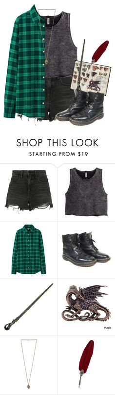 """slytherin"" by the-cheap-bouquet ❤ liked on Polyvore featuring Alexander Wang, H&M, Uniqlo and Dr. Martens"