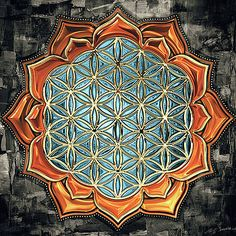 Flower of Life 4 by Sampad Art