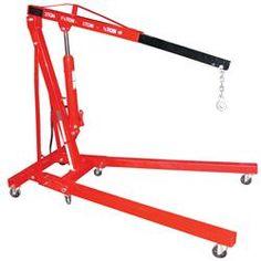 Air / Hand Pump Hydraulic Shop Crane