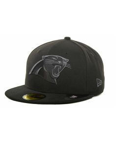 fed539f7b08480 Carolina Panthers Black Gray 59FIFTY Hat
