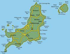Grenada Map Grenada Road Map Guide Planner Detailed Map Of - Road map of grenada island