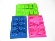 Candy Molds for making LEGO bricks and figures by Merchant Smile. Complete Set: 3 special molds for chocolate, jello, cake, ice and even candles, soap, crayon including recipes. Turn happy birthday parties into memorable events now! ** Check out this great product.