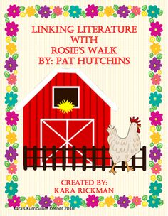 If you love teaching literature with cross curricular activities, then this packet is for you! This packet includes:Lesson Plan with Mentor TextCraftivity:Rosie's Walk Around the Farm with Templates and LabelsReader's Theater Character SticksAnchor Charts Rosies Walk, Positional Language, Teaching Literature, Cross Curricular, Autism Activities, Preschool Books, I Love Reading, Walking By, Charts