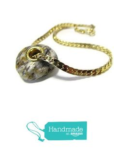 Natural Lake #Michigan Marble Beach Stone Large Hole Gold PlateD Grommet Bead Charm #Bracelet, Gold Tone 7 Inch Snake Chain from ShorelineDesigned http://www.amazon.com/dp/B01C6A2EPK/ref=hnd_sw_r_pi_dp_Q.xexb1AMKDQ0 #handmadeatamazon