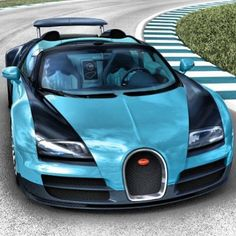 Poseidons idea of a car! God like Ocean Blue #bugatti! Wonderful