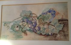 Grapes by my great grandmother Ruth Lange