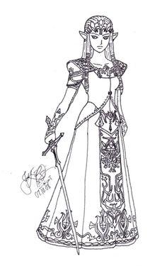 princess zelda coloring pages photo 66056 - Zelda Coloring Pages