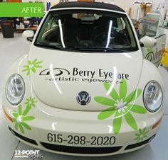 The fun VW Big for Berry Eyecare and Artistic Eyewear in Nashville.