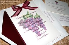 vineyard themed wedding invitations | ... for vineyard or winery wedding, grape theme wedding invitation cards