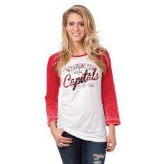 save off 699c2 e2411 New Era Washington Capitals Ladies Relaxed Thermal Burnout Three-Quarter  Sleeve T-Shirt -