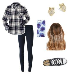 """"""""""" by sloanedmc ❤ liked on Polyvore featuring J Brand, Aéropostale, Kate Spade, Converse, Forever 21 and Jigsaw"""