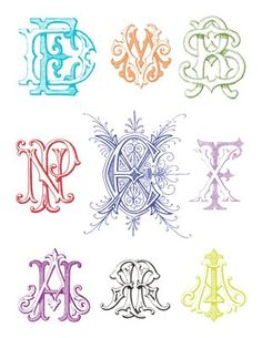 Order your own Antique and Engraved Monograms