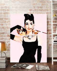 Audrey Hepburn Watercolor Canvas Art @ http://artzeedesigns.com/products/canvas-art-abstract-art-audrey-hepburn-art-4-by-artzee-designs.html
