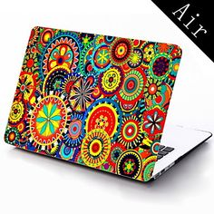 Colorful Flower Design Full-Body Protective Plastic Case for 11-inch/13-inch New MacBook Air – USD $ 25.99