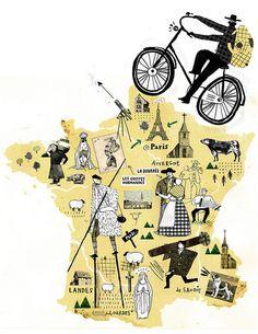 「非典型法國」書封插圖  Chia-Chi Yu 達姆   chiachi