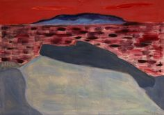 """popgoesred:  """"Milton Avery  Sunset at Sea  1960  32 x 46 inches  """""""