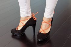 DIY Shoes : DIY Lace Up Your Old Pumps, Wedges, and Slingbacks