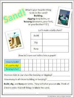 FREE class tally & graph printable  - summer theme