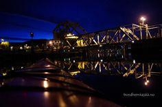 #Skansen bridge #night #kayak #Trondheim #Norway