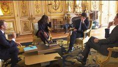 O momento em que o cachorro de Emmanuel Macron faz xixi durante reunião oficial