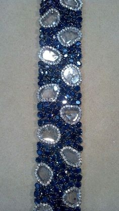 Diamond Slice and Sapphire Bracelet, set in 18kt Gold. An absolute must-have!! #bracelet #sapphire #couture
