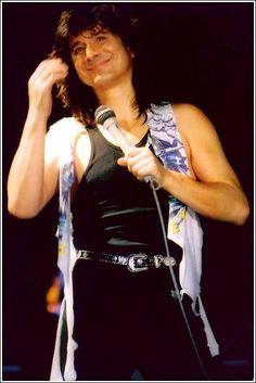Steve Perry ~ Raised on the Radio, gosh he looks amazingly handsome here.