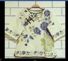 Instagram : nonararabatik Batik blous tops