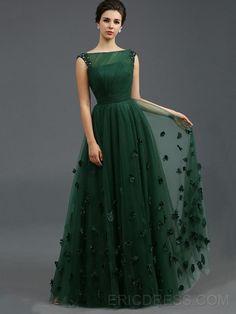 ericdress.com offers high quality Vintage Bateau Appliques A-Line Evening Dress Elegant Evening Dresses unit price of $ 113.51.