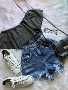 67 trendy clothes ideas for teens casual shoes Cute Casual Outfits, Cute Summer Outfits, Pretty Outfits, Stylish Outfits, Casual Clothes, Casual Shoes, Casual Jeans, Casual Chic, Spring Outfits