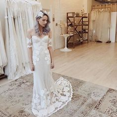 """""""Trunk Show Goodness  @ceremony_boston #SevenGown on the stunning @macyewysner xx"""""""