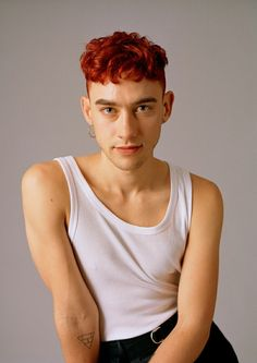 Olly Alexander for Hello Mr. Pretty People, Beautiful People, Perfume Genius, Dyed Red Hair, Olly Alexander, Hollywood Men, Perfect Music, Hair Dye Colors, Cute Guys