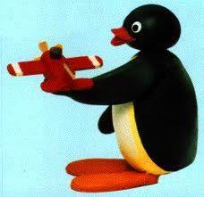 Pingu and his plane