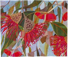 In My Portfolio: In Good Company - Ruth de Vos : Textile Artist Textile Fiber Art, Textile Artists, Voss, Landscape Art Quilts, Australian Native Flowers, Flower Quilts, Botanical Art, Fabric Art, Artist Art