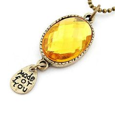 What you get is what you see  Only $ 1.45 &FREE Shipping Worldwide  Get it here --->http://www.honestgem.com/product/big-round-yellow-crystal-sweater-chain/ //   #honestgem #jewelry