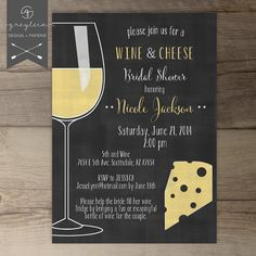 Wine and Cheese Invitations / Chalkboard / Dinner Party Invites / Invitations / DIY Printable / Dinner Party / Girls Night Out