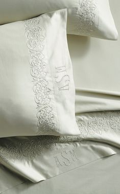 Lace Bedding, Embroidered Bedding, Bedspread, Floral Embroidery Patterns, Machine Embroidery Patterns, Monogram Pillowcase, Balloon Valance, White Pillow Cases, Luxury Sheets