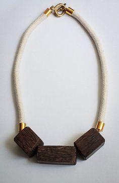 Simple woods necklace/ Norton Necklace