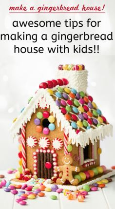 Awesome tips on how to have a successful experience making gingerbread houses with your kids!