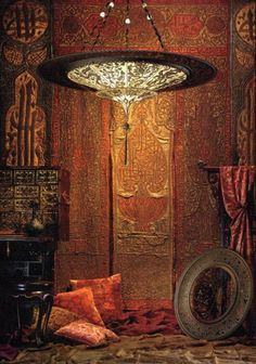 (̏◕◊◕)̋ look at all that color and texture... and that Fortuny Lamp! ~sigh~