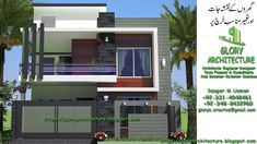 Islamabad House Front Elevation We are providing services modern house design at your different size of plot in Islamabad and Islamabad surrounding area all over pakistan Complete… House Fence Design, Single Floor House Design, Home Stairs Design, 2 Storey House Design, Bungalow House Design, Small House Design, Modern House Design, House Floor, 3d House Plans