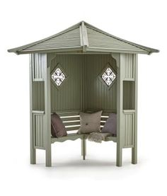 Summer is around the corner which means it's almost time to start throwing those garden parties! Update your garden decor with this stylish Haven Corner Arbour from Next.