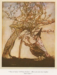 Illustration by Arthur Rackham. From the book 'English Fairy Tales', first published 1918.