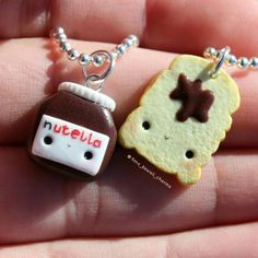 """Gefällt 3,761 Mal, 36 Kommentare - Sarah (@sarahs_kawaii_charms) auf Instagram: """"This nutella bff charms are available on my Etsy shop!Feel free to have a look! #charm #bff…"""""""