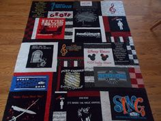 custom made memory t shirt quilt